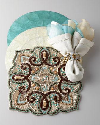 Kim Seybert Four Silk Organza Napkins