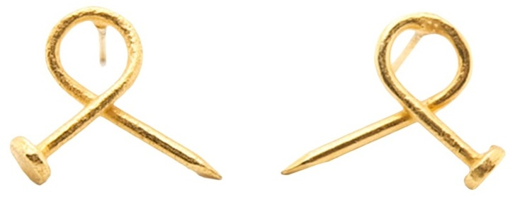 Tom Binns 'Twisted Nail' earring