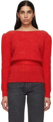 ALEXACHUNG Red Open Back Sweater