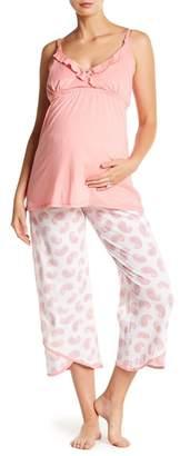 Belabumbum Paisley Nursing Pajama 2-Piece Set (Maternity)