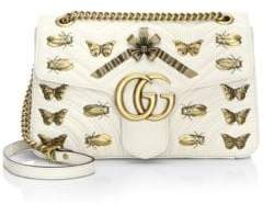 Gucci Metal Mix GG Marmont Medium Butterflies Matelasse Leather Chain Shoulder Bag