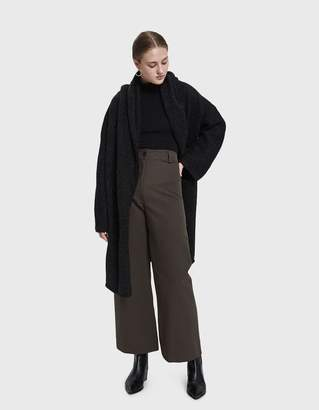 LAUREN MANOOGIAN Capote Shawl Coat in Black Melange