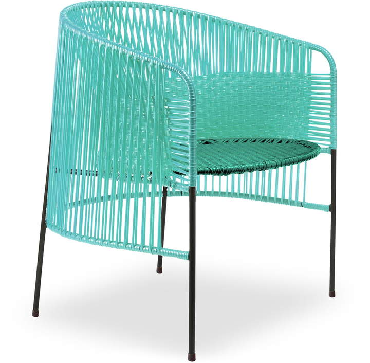 ames - caribe Lounge Chair, mint / grün / schwarz