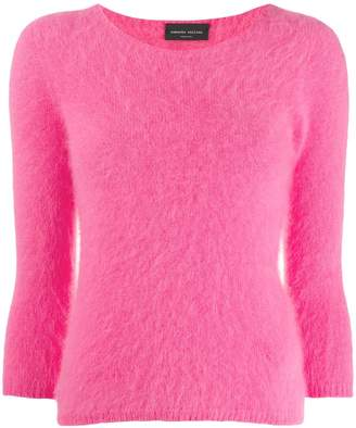 Roberto Collina cropped-sleeve knitted jumper