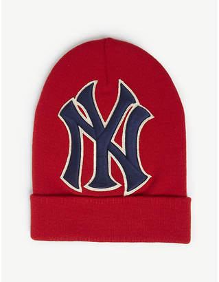 Gucci New York Yankees knitted wool beanie