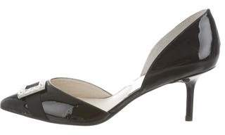 Michael Kors Buckle Patent Leather Pumps