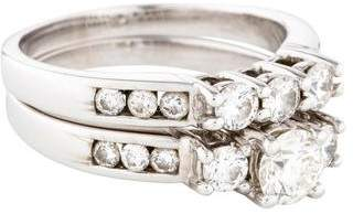 18K Diamond Wedding Ring Set
