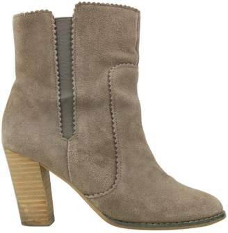 Tila March Brown Suede Ankle boots