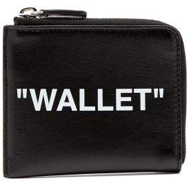 Off-white - 'wallet' Leather Cardholder - Mens - Black White