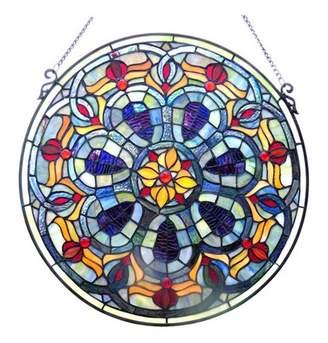 "Chloé Lighting Lighting Tiffany-glass Victorian Window Panel 20"""