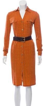 MICHAEL Michael Kors Belted Knee-Length Dress