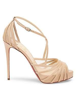 Christian Louboutin Women's Filamenta Peep-Toe Leather Sandals