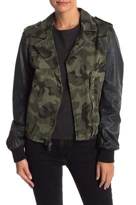 Levi's Contrast Camo Print Moto Jacket