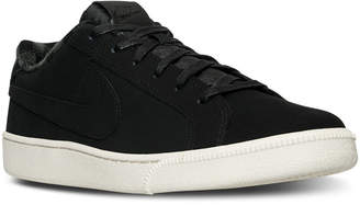 Nike Men's Court Royale Premium Casual Sneakers from Finish Line $69.99 thestylecure.com