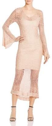 Haute Hippie Maureen Crocheted Midi Dress