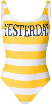 Alberta Ferretti striped swimsuit