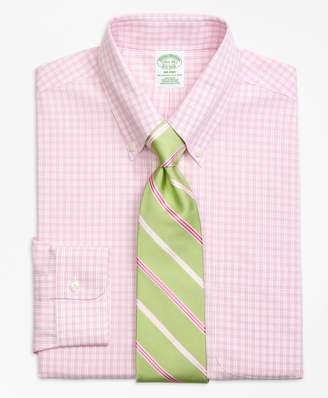 Brooks Brothers Milano Slim-Fit Dress Shirt, Non-Iron Twin Gingham