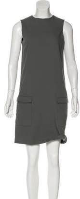 Calvin Klein Collection Sleeveless Wool Dress Grey Sleeveless Wool Dress