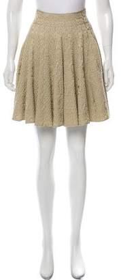 Alaia A-Line Metallic Skirt