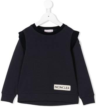 Moncler ruffled detail sweatshirt