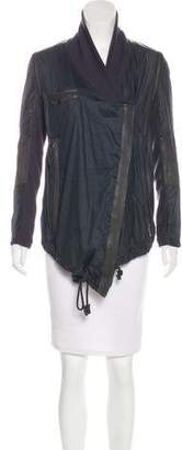 Yigal Azrouel Leather-Trimmed Bomber Jacket