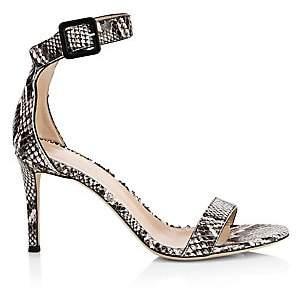 Giuseppe Zanotti Women's Snakeskin-Embossed Leather Sandals