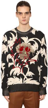 Vivienne Westwood Printed & Embroidered Cotton Sweatshirt