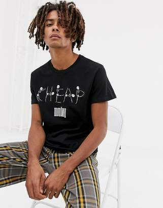 Cheap Monday Standard T-Shirt With Skeleton logo