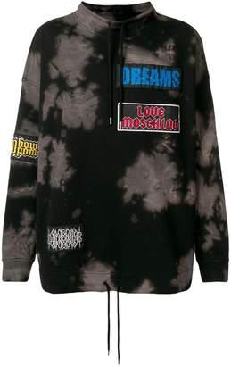 Love Moschino bleach-effect oversized sweatshirt