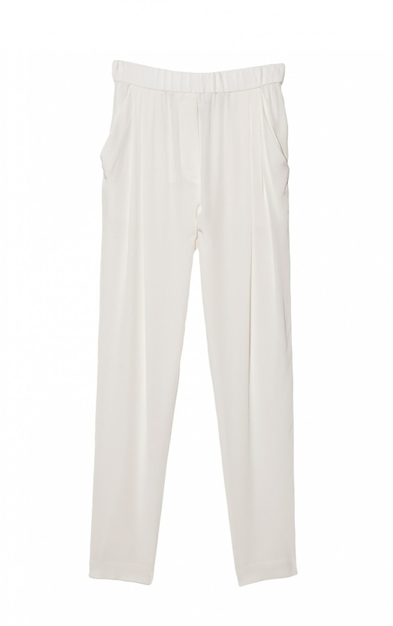 3.1 Phillip Lim Draped Pocket Trouser In White
