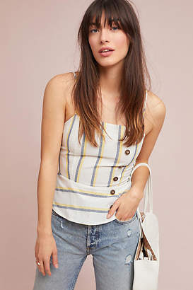 J.o.a. Striped Peplum Cami