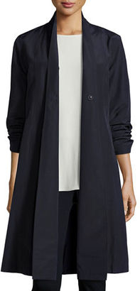 Eileen Fisher Organic-Cotton/Nylon A-line Knee-Length Jacket $268 thestylecure.com