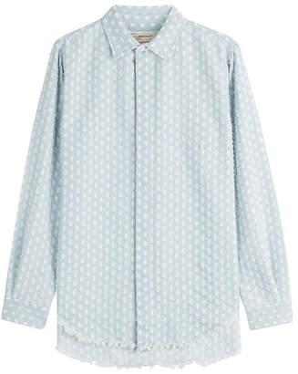 Current/Elliott Distressed Denim Shirt