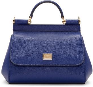 Dolce & Gabbana Blue Mini Miss Sicily Bag $1,295 thestylecure.com