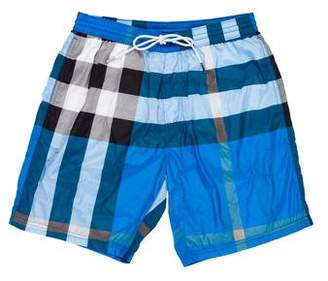 Burberry Gowers Nova Check Trunks w/ Tags