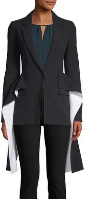 Givenchy Draped Single Button Blazer