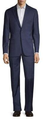 Hickey Freeman Classic Fit Pinstriped Wool Suit