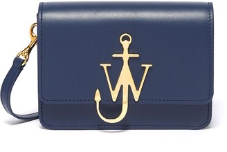 J.W.Anderson 'Logo' plate mini leather crossbody bag