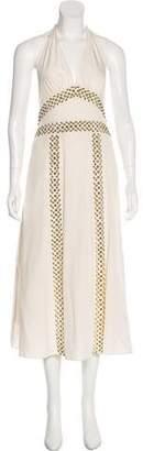 Chloé Embellished Halter Dress