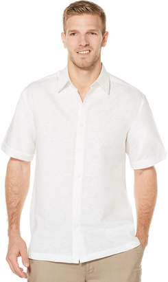 Cubavera Short Sleeve Tonal Embroidered Shirt