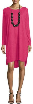 Eileen Fisher Long-Sleeve Hemp Twist Shift Dress $178 thestylecure.com