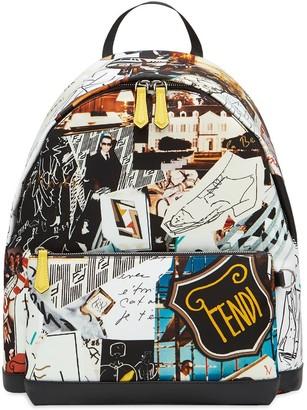 Fendi Karl kollage backpack