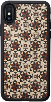 Tarxia Aikabia Geometric Wood Inlay iPhone Case