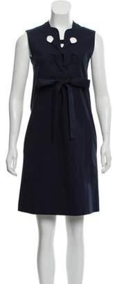 Derek Lam Sleeveless Lace-Up Dress Blue Sleeveless Lace-Up Dress