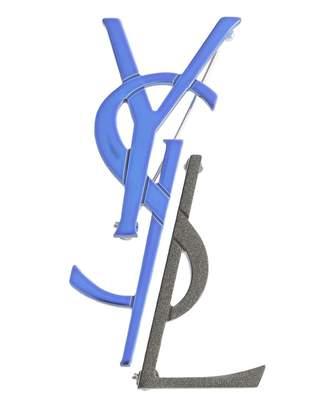 Saint Laurent Deconstructed Monogram Brooch