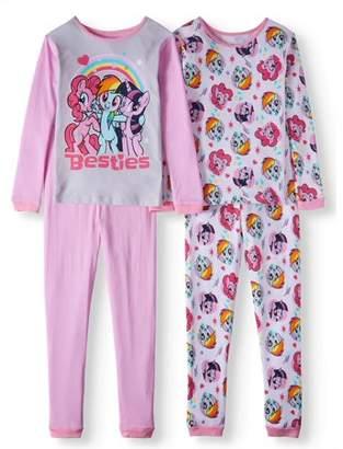 My Little Pony Girls' 4-Piece Pajama Sleep Set
