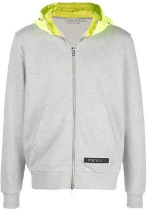 Moncler two-tone zipped hoodie