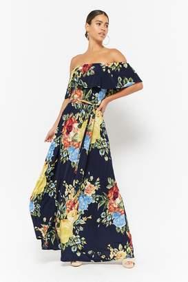 Forever 21 Floral Off-the-Shoulder Maxi Dress