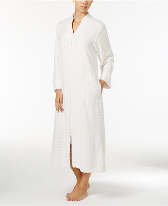 Miss Elaine Dot Textured Fleece Zip-Front Robe $72 thestylecure.com