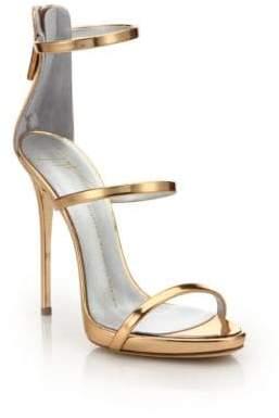 Giuseppe Zanotti Patent Leather 3-Strap Sandals